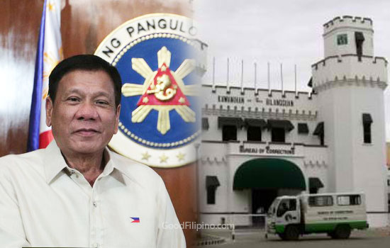 President Duterte warns drug lords inside new bilibid prison