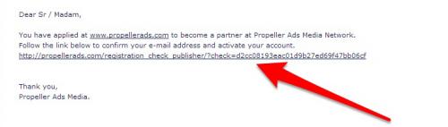 التسجيل في Propeller Ads Media
