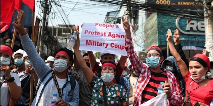 Thousands Strike Against Myanmar's Military Rule
