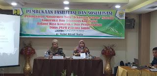 Plt Sekretaris Dinas PUPR Provinsi Jambi Membuka Secara Resmi Fasilitasi Dan Sosialisasi Peningkatan Manajemen Mutu, Teknologi Bahan/ Material Konstruksi Dan Teknologi Konstruksi.