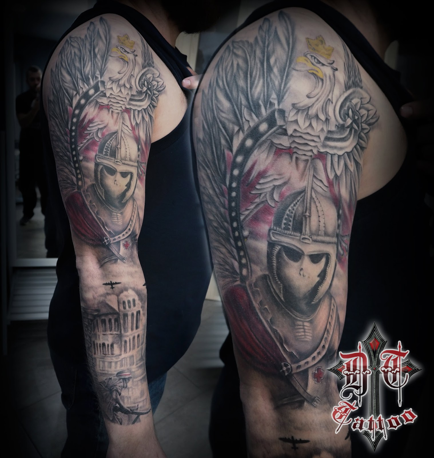 Polish Patriot Tattoo Dark Templar Tattoo Studio Tatuażu Oświęcim