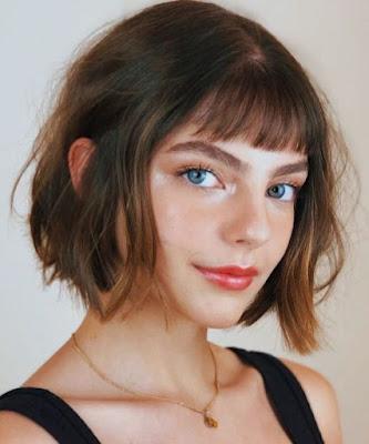 cabelo com franja chanel