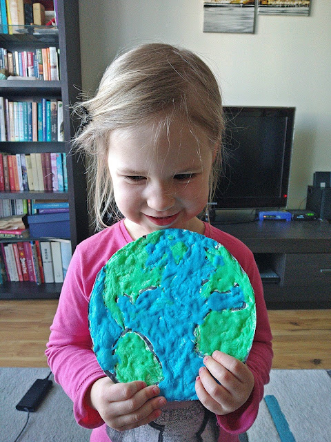 puffy paint recipe, puffy paint Earth