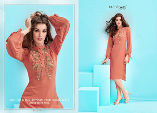 KITAB VOL 1 AASHIRWAD CREATION KURTIS KURTA TOPS WHOLESALER LOWEST PRICE SURAT GUJARAT
