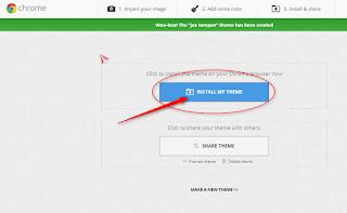 Cara membuat tema google chrome