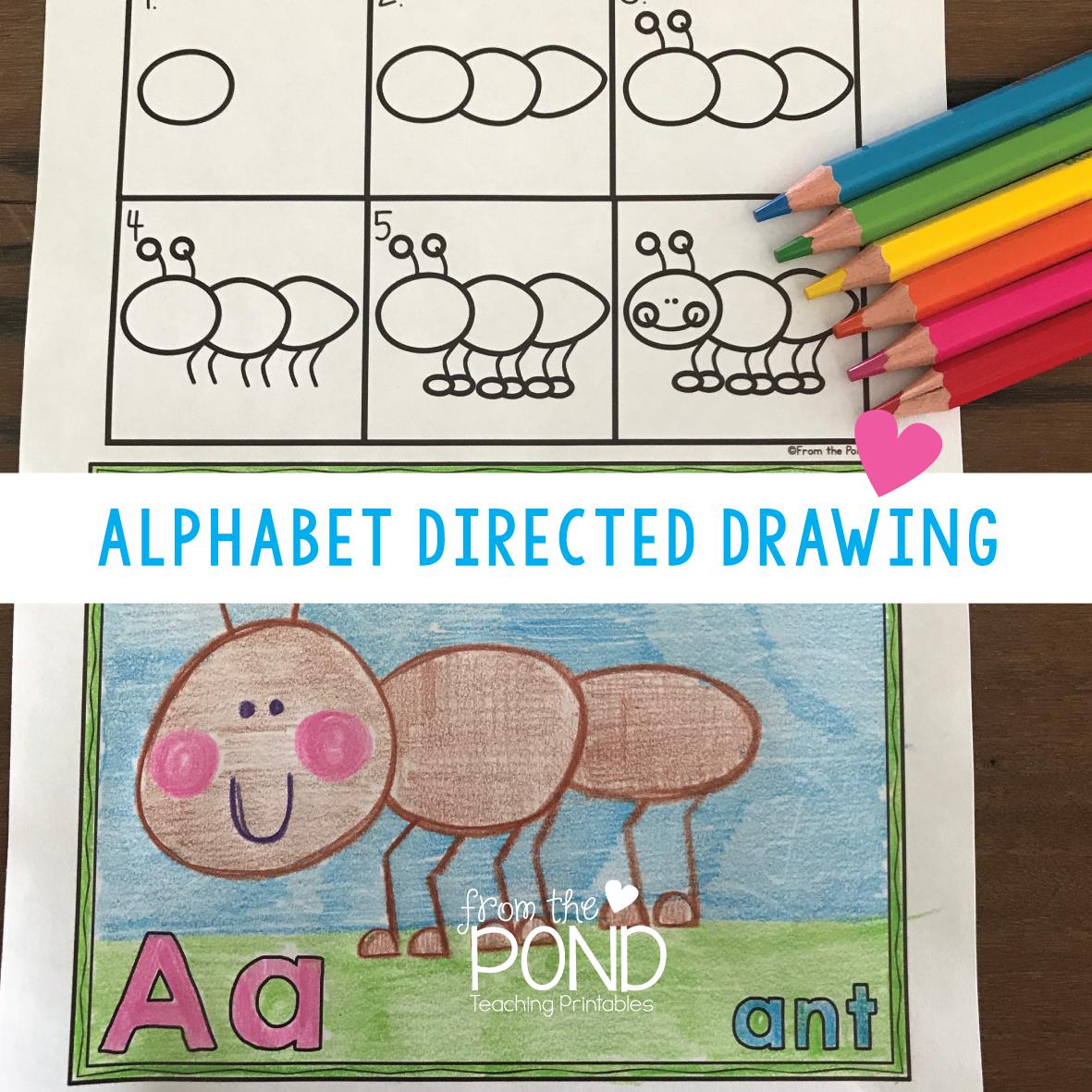 Alphabet Directed Drawing | Frog Spot | Bloglovin\'
