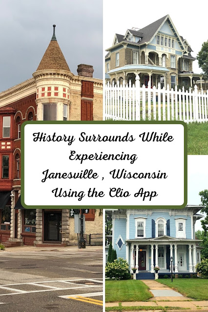 History Surrounds While Experiencing Janesville, Wisconsin Using the Clio App