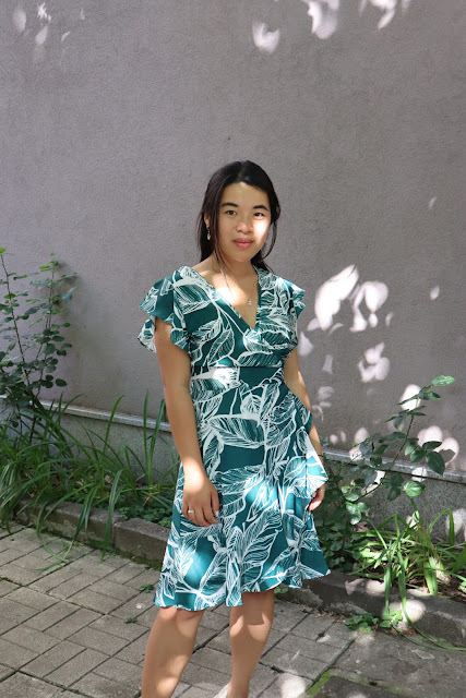 Leaf wrapped dress