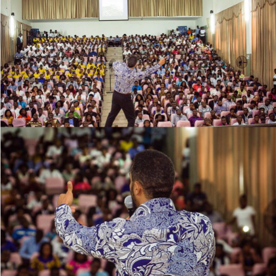 See the crowd listening to 'evangelist' Majid Michel preach (Photo)