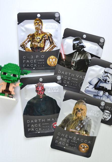 Design Face Pack Star Wars Sheet Mask Collection Flatlay