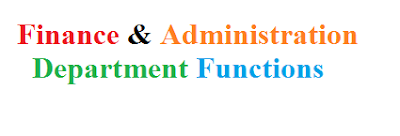 Finance and Administration Department Functions