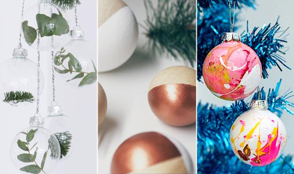 curiosità, decorazioni natalizie, palline natale DIY