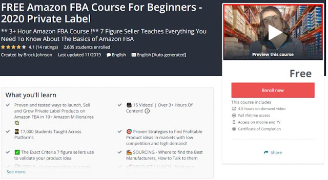 [100% Free] FREE Amazon FBA Course For Beginners - 2020 Private Label