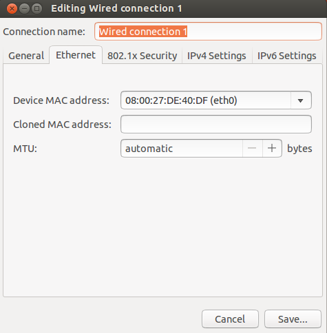 Change MAC Address Using The Terminal/Network Manager Under Ubuntu