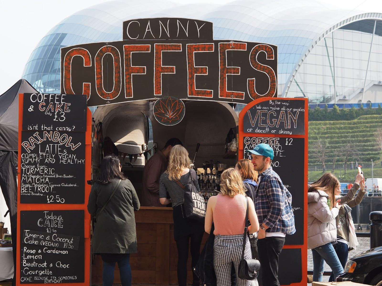 canny coffee newcastle quayside street food market