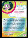 My Little Pony Spike Series 5 Trading Card