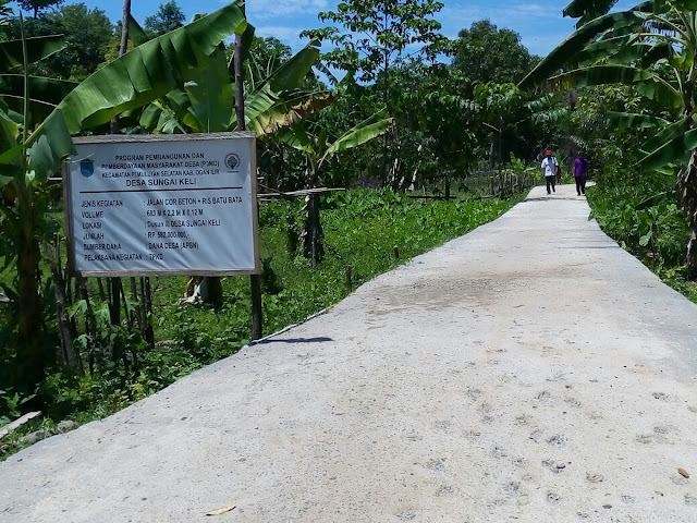 Bangunan 60 Persen Desa Sungai Keli 2017 Selesai