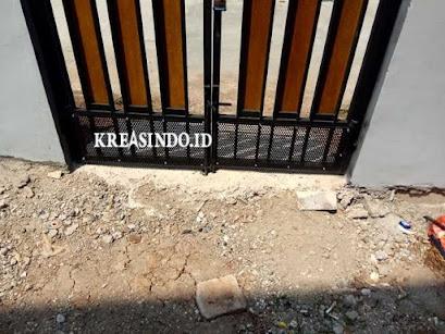Penambahan Plat Besi untuk Pintu Pagar di Rumah Pak Kartono - Order Keempat