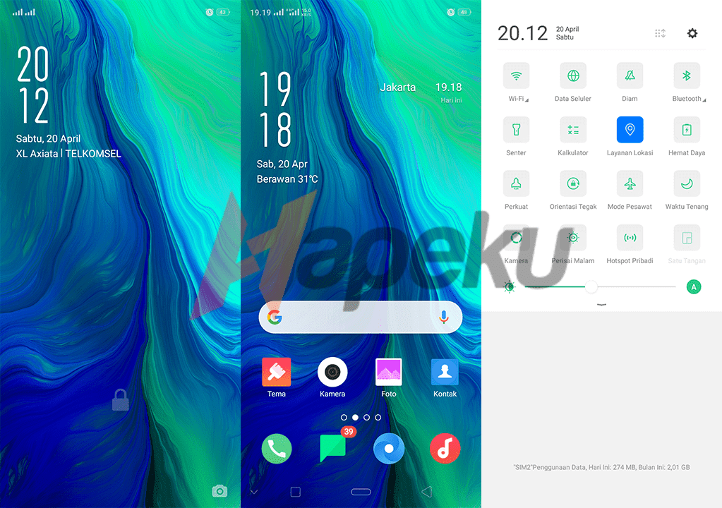 Screenshot Theme Oppo Reno by Android Tutorial