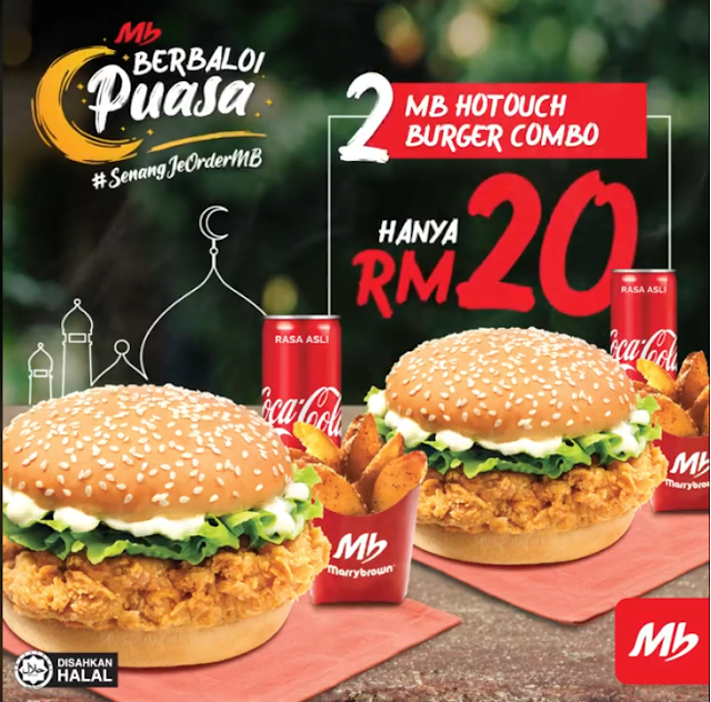 2 MB HotTouch Burger Combo Hanya RM20