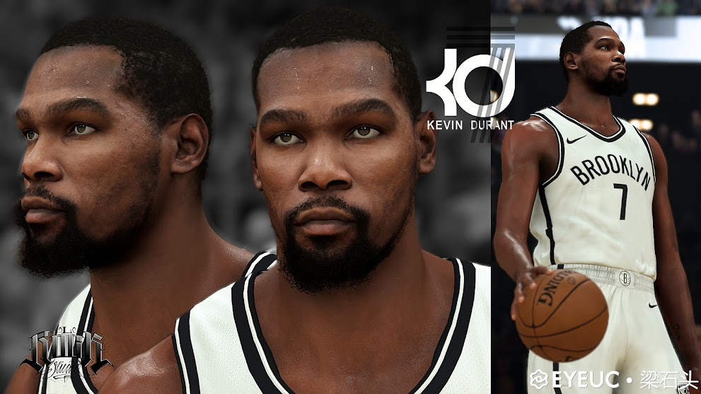Kevin Durant cyberface and Body Model By Beam stone [FOR 2K21]