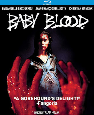 Kino Lorber's cover art for their Special Edition of BABY BLOOD!