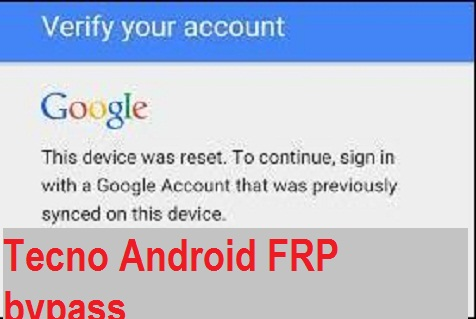 Tecno W1 google account reset and FRP bypass in 10 seconds.