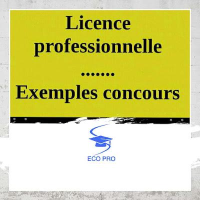 Concours,Licences,Professionnelles