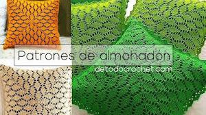 Cojín | Almohadón Crochet con diseño de hojas | Patrones explicados