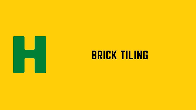HackerRank Brick Tiling problem solution