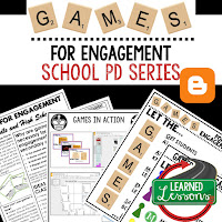 Games for Engagement, Teacher Planning, Professional Development, Student Research, Student Mastery of Content