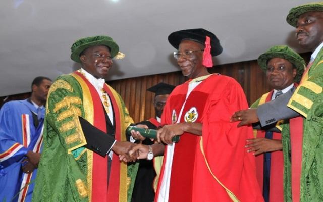 Otumfuo Osei Tutu II and Prof. William Otoo-Ellis
