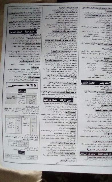 تجميع لكل امتحانات اللغة العربية والتربية الإسلامية للصف الثانى الثانوى 2020 7