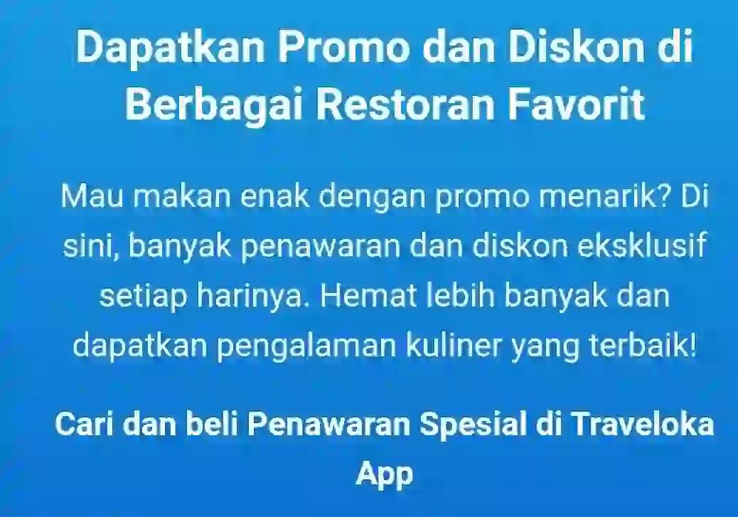 Cara Cek Promo Dan Diskon Voucher Makanan Di Traveloka Eats