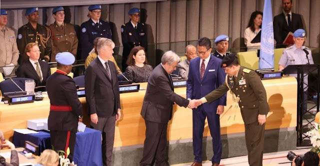 Penasehat Militer PTRI Untuk PBB Menerima Hammarskjold Medal Award 2019