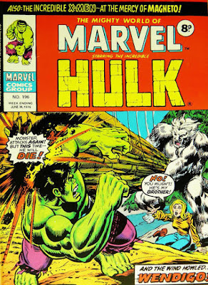 Mighty World of Marvel #196, Hulk vs Wendigo