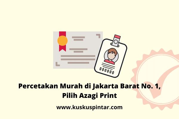 Percetakan Murah di Jakarta Barat