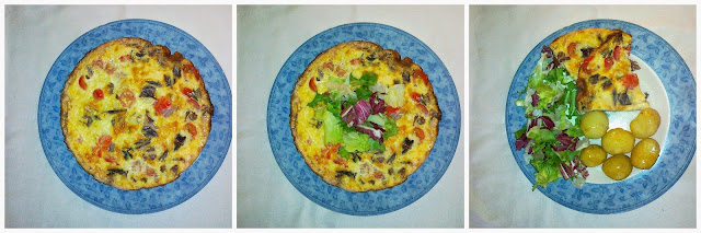 Tomato and Radicchio Frittata