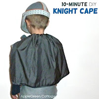 knight cape Halloween costume diy