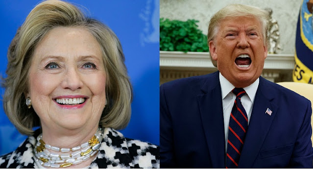 #TrumpBanned Check Out Hillary Clinton' Hilarious Reaction As Twitter Bans Donald Trump