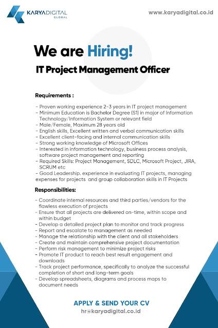 Lowongan Kerja IT Project Management Officer