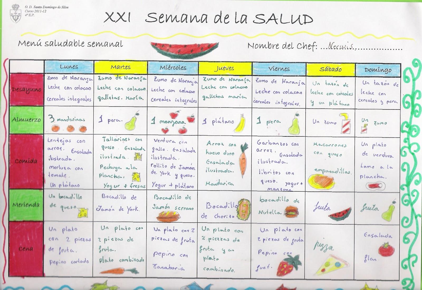 Nuestra nave tic proyecto men saludable for Almuerzo en frances