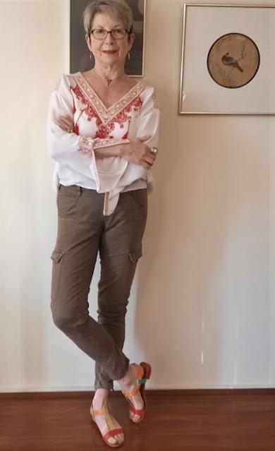 CARGO PANTS AND BOHO BLOUSE