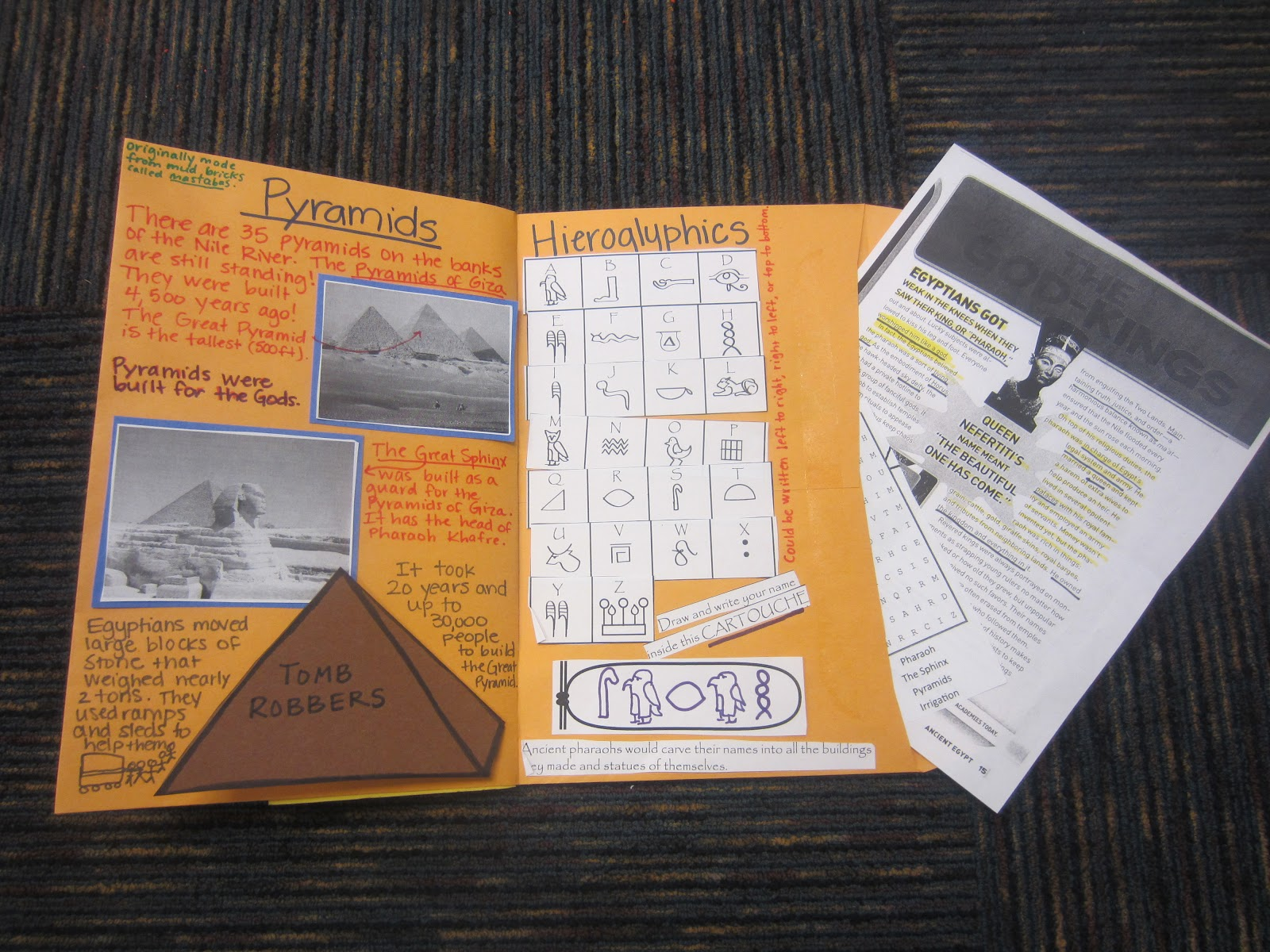 O The Places You Ll Go Ancient Egypt Foldable Books