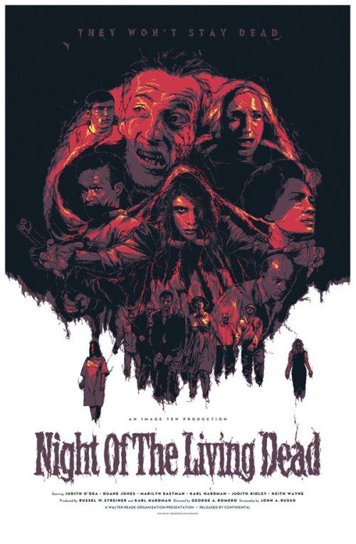 Grzegorz Domaradzki ilustrações cartazes pôsteres filmes arte cinema Night of the Living Dead (A Noite dos Mortos-Vivos)