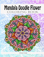 Mandala Doodle Flower coloring book