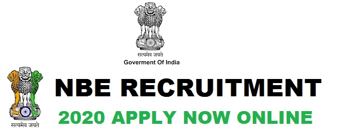 National Board of Examination(NBE) Recruitment 2020 Apply now