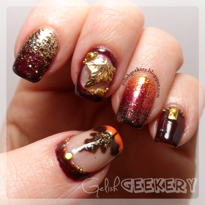 Gelish Mani Sunday | Autumn Nails ~ Gelish Geekery