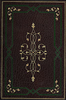 The front cover of the Agrippa book that shows the exterior luxury binding made by Sangorski & Sutcliffe.