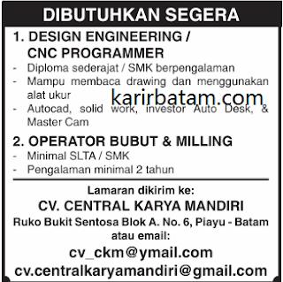 Lowongan Kerja CV. Central Karya Mandiri